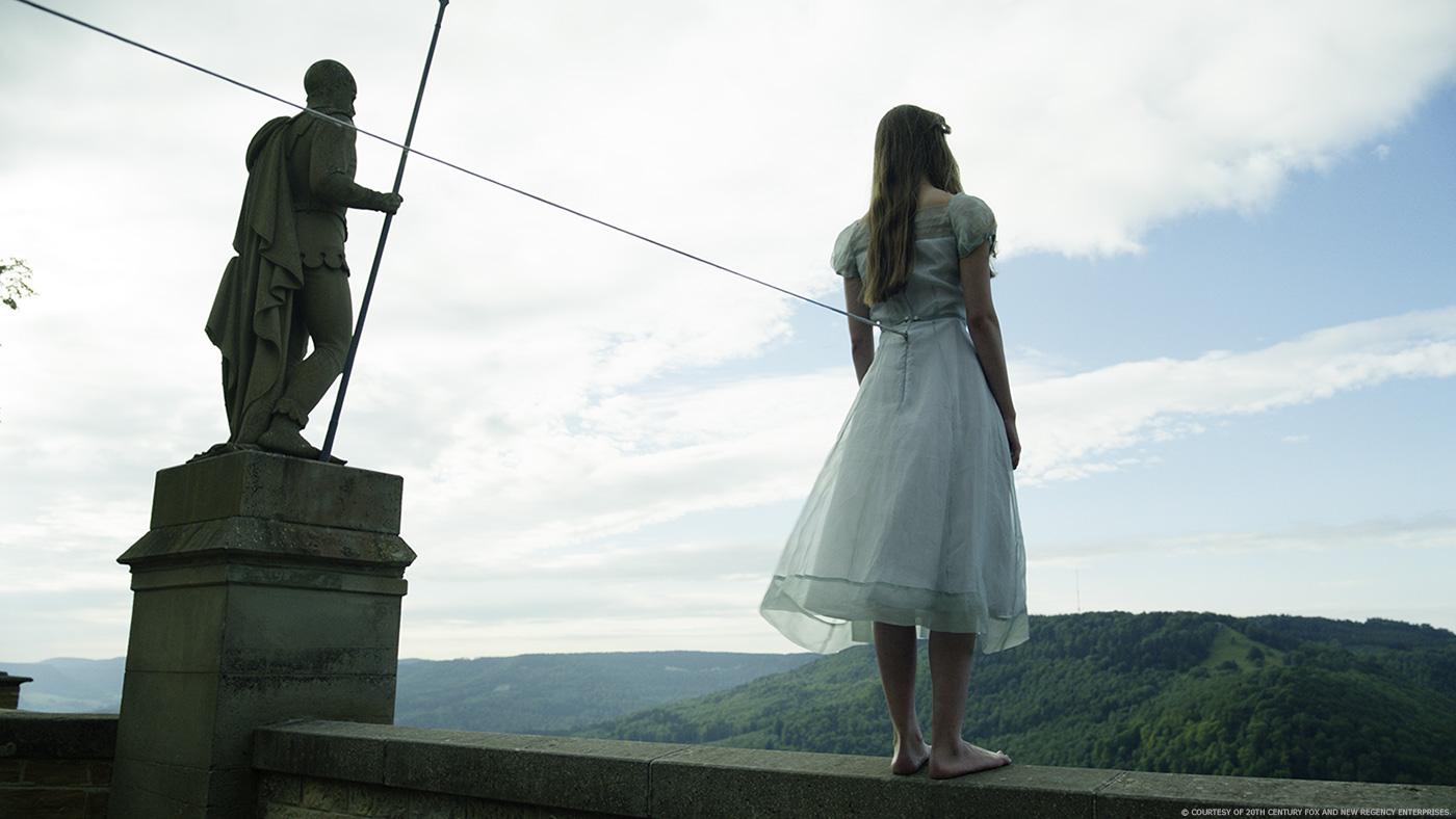 A cure for Wellness woman on ledge