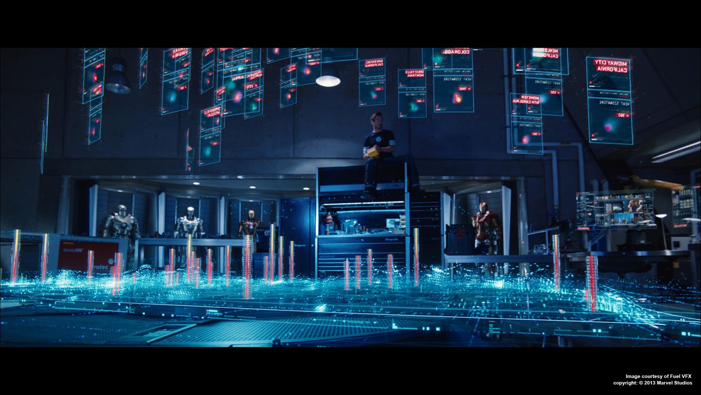 IRON MAN 3: Simon Maddison - VFX Supervisor - Fuel VFX ... Iron Man Holographic Computer